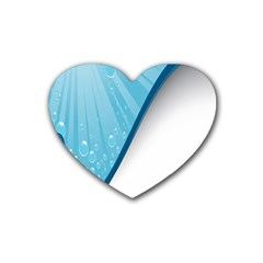 Water Bubble Waves Blue Wave Heart Coaster (4 Pack)  by Alisyart