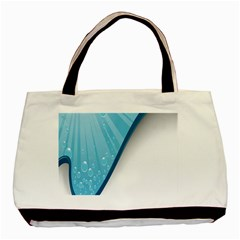 Water Bubble Waves Blue Wave Basic Tote Bag (two Sides) by Alisyart
