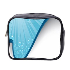 Water Bubble Waves Blue Wave Mini Toiletries Bag 2 Side