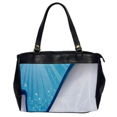 Water Bubble Waves Blue Wave Office Handbags by Alisyart