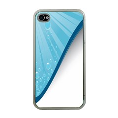 Water Bubble Waves Blue Wave Apple Iphone 4 Case (clear)