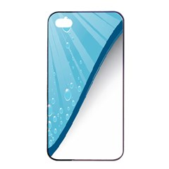 Water Bubble Waves Blue Wave Apple Iphone 4/4s Seamless Case (black) by Alisyart