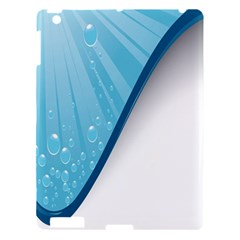 Water Bubble Waves Blue Wave Apple Ipad 3/4 Hardshell Case by Alisyart