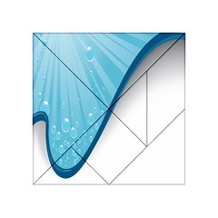 Water Bubble Waves Blue Wave Acrylic Tangram Puzzle (4  X 4 )
