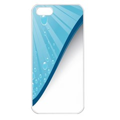 Water Bubble Waves Blue Wave Apple Iphone 5 Seamless Case (white)