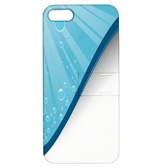 Water Bubble Waves Blue Wave Apple Iphone 5 Hardshell Case With Stand by Alisyart