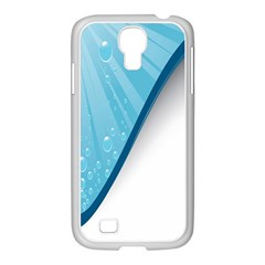 Water Bubble Waves Blue Wave Samsung Galaxy S4 I9500/ I9505 Case (white) by Alisyart