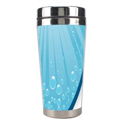 Water Bubble Waves Blue Wave Stainless Steel Travel Tumblers by Alisyart