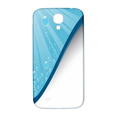 Water Bubble Waves Blue Wave Samsung Galaxy S4 I9500/i9505  Hardshell Back Case by Alisyart