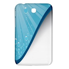 Water Bubble Waves Blue Wave Samsung Galaxy Tab 3 (7 ) P3200 Hardshell Case