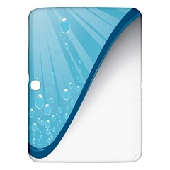 Water Bubble Waves Blue Wave Samsung Galaxy Tab 3 (10 1 ) P5200 Hardshell Case  by Alisyart