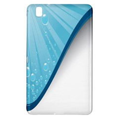 Water Bubble Waves Blue Wave Samsung Galaxy Tab Pro 8 4 Hardshell Case by Alisyart