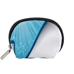 Water Bubble Waves Blue Wave Accessory Pouches (small)