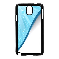 Water Bubble Waves Blue Wave Samsung Galaxy Note 3 Neo Hardshell Case (black) by Alisyart