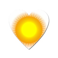 Sunlight Sun Orange Yellow Light Heart Magnet by Alisyart