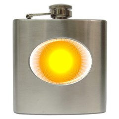 Sunlight Sun Orange Yellow Light Hip Flask (6 Oz) by Alisyart