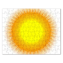 Sunlight Sun Orange Yellow Light Rectangular Jigsaw Puzzl by Alisyart