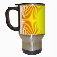 Sunlight Sun Orange Yellow Light Travel Mugs (white) by Alisyart