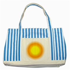 Sunlight Sun Orange Yellow Light Striped Blue Tote Bag by Alisyart