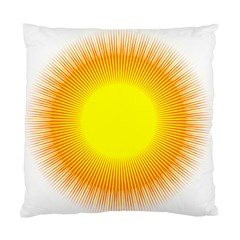 Sunlight Sun Orange Yellow Light Standard Cushion Case (one Side) by Alisyart