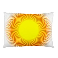 Sunlight Sun Orange Yellow Light Pillow Case by Alisyart