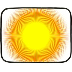 Sunlight Sun Orange Yellow Light Double Sided Fleece Blanket (mini)  by Alisyart