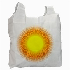 Sunlight Sun Orange Yellow Light Recycle Bag (two Side)  by Alisyart
