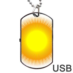 Sunlight Sun Orange Yellow Light Dog Tag Usb Flash (one Side) by Alisyart
