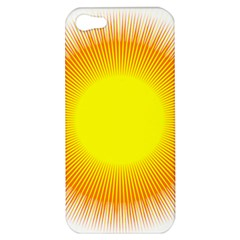 Sunlight Sun Orange Yellow Light Apple Iphone 5 Hardshell Case by Alisyart