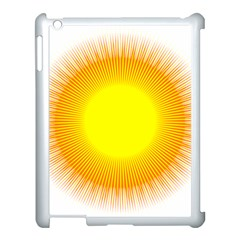 Sunlight Sun Orange Yellow Light Apple Ipad 3/4 Case (white)