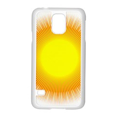 Sunlight Sun Orange Yellow Light Samsung Galaxy S5 Case (white)