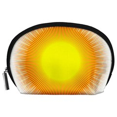 Sunlight Sun Orange Yellow Light Accessory Pouches (large)