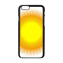 Sunlight Sun Orange Yellow Light Apple Iphone 6/6s Black Enamel Case by Alisyart