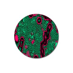Reaction Diffusion Green Purple Magnet 3  (round) by Alisyart
