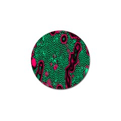 Reaction Diffusion Green Purple Golf Ball Marker (10 Pack)