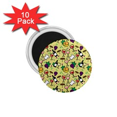 Wine Cheede Fruit Purple Yellow 1 75  Magnets (10 Pack)