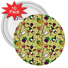 Wine Cheede Fruit Purple Yellow 3  Buttons (10 Pack)
