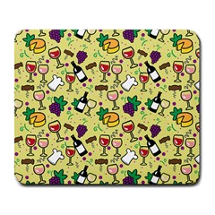 Wine Cheede Fruit Purple Yellow Large Mousepads by Alisyart