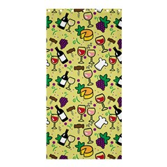 Wine Cheede Fruit Purple Yellow Shower Curtain 36  X 72  (stall)  by Alisyart