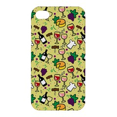 Wine Cheede Fruit Purple Yellow Apple Iphone 4/4s Hardshell Case by Alisyart