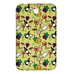 Wine Cheede Fruit Purple Yellow Samsung Galaxy Tab 3 (7 ) P3200 Hardshell Case  by Alisyart