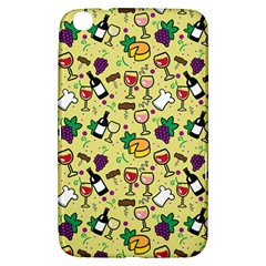 Wine Cheede Fruit Purple Yellow Samsung Galaxy Tab 3 (8 ) T3100 Hardshell Case  by Alisyart