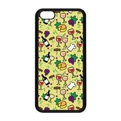 Wine Cheede Fruit Purple Yellow Apple Iphone 5c Seamless Case (black) by Alisyart