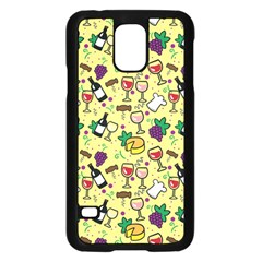 Wine Cheede Fruit Purple Yellow Samsung Galaxy S5 Case (black) by Alisyart