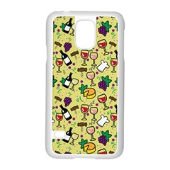 Wine Cheede Fruit Purple Yellow Samsung Galaxy S5 Case (white)