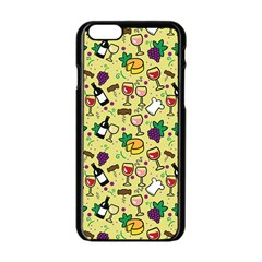 Wine Cheede Fruit Purple Yellow Apple Iphone 6/6s Black Enamel Case by Alisyart