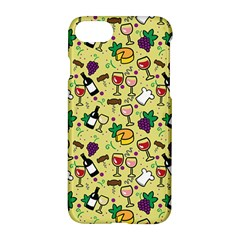 Wine Cheede Fruit Purple Yellow Apple Iphone 7 Hardshell Case by Alisyart