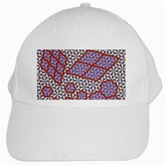 Triangle Plaid Circle Purple Grey Red White Cap by Alisyart