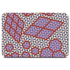 Triangle Plaid Circle Purple Grey Red Large Doormat  by Alisyart