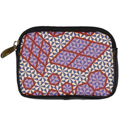 Triangle Plaid Circle Purple Grey Red Digital Camera Cases by Alisyart